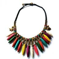 Neckless multicolor stones