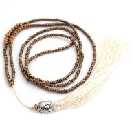 Neckless Budha tassel gold