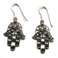Fatimas Hand Silver earings