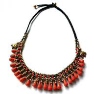 Neckless orange stones