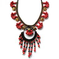 Neckles red stones