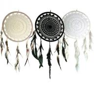Dreamcatcher crocheted 32 cm
