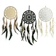 Dreamcatcher crocheted 16 cm