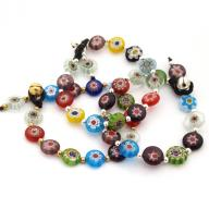 Bracelet Murano with brass bell