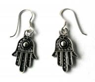 fatimas hand Silver earings mini