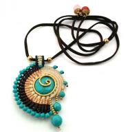 Neckles Spiral creme blue brown