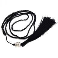Neckless Budha tassel black