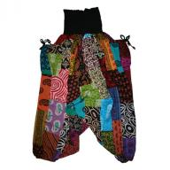 Harem pants Patchwork