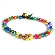 Bracelet brass rainbow golden Budha