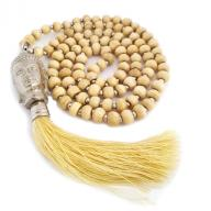 Neckless Budha cream wood