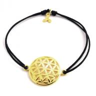 Flower of life gold plated black