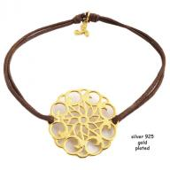 Flower gold plated brown