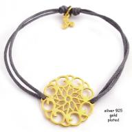 Flower gold plated grej
