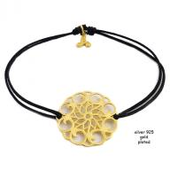 Flower gold plated black
