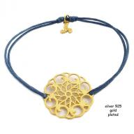 Flower gold plated blue