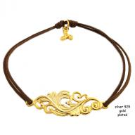 Tattoo gold plated brown