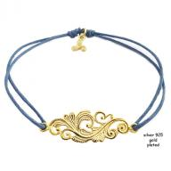 Tattoo gold plated blue