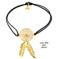 Dreamcatcher gold plated black