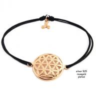 Flower of life rosegold plated black