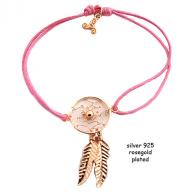 Dreamcatcher rosegold plated pink