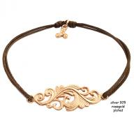 Tattoo rosegold plated brown