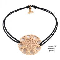 Flower rosegold plated black