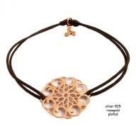 Flower rosegold plated brown