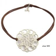 Flower silver 925 brown