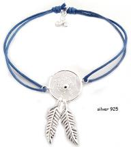 Dreamcatcher silver 925 blue