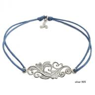 Tattoo silver 925 blue
