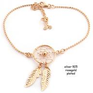 Dreamcatcher silver 925 rosegold plated