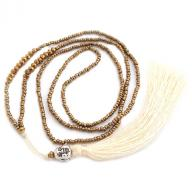 Neckless Happy Budha tassel gold