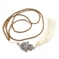 Neckless Fatimas Hand tassel gold