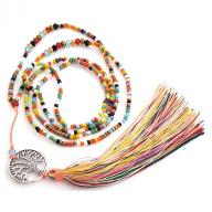 Neckless Tree of Life tassel multi
