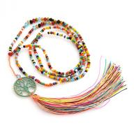 Neckless Tree of Life tassel antik multi