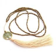 Neckless Tree of Life tassel antik gold