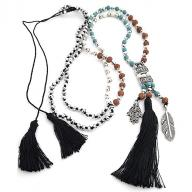 Neckless Rudraksha Tassel black