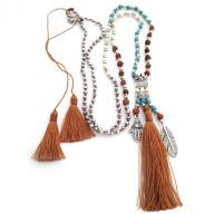 Neckless Rudraksha Tassel brown