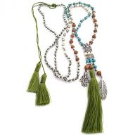 Neckless Rudraksha Tassel green