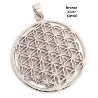 Flower of Life  bronze silver plated
