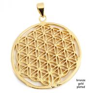 Flower of Life  bronze gold plated