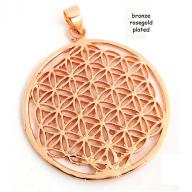 Flower of Life  bronze rosegold plated