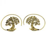 Earing Bronze tree of life