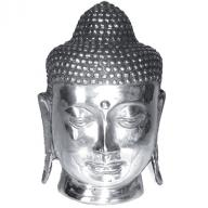 Silverplated Budha head  16 cm
