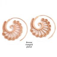 Earing Bronze rosegold plated