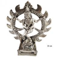 Silverplated Siva Nataraj 13 cm