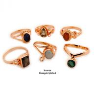 Ring bronze rosegold plated
