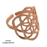Ring bronze Flower Of Life rosegold