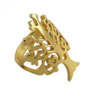 Ring bronze Tree Of Life gold plated