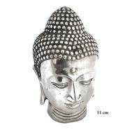 Silverplated Budha head  11 cm